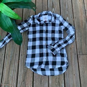 🌸SO Perfect Shirt Fall Flannel Black/White